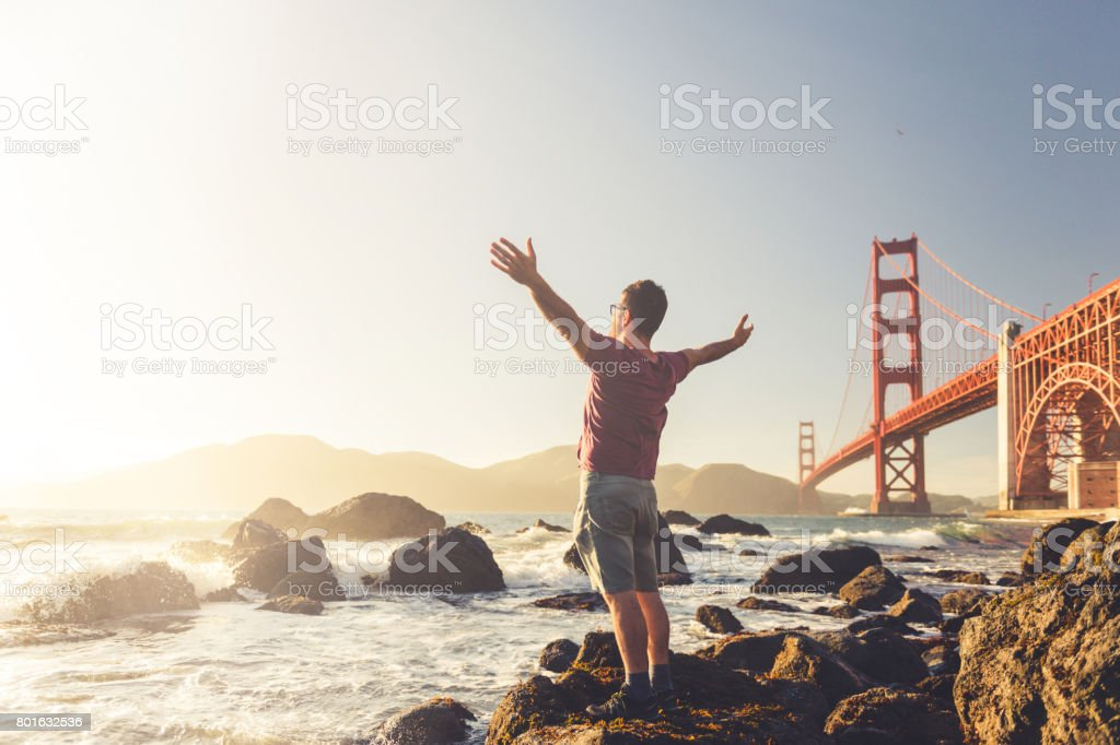 Hands up! stock photo