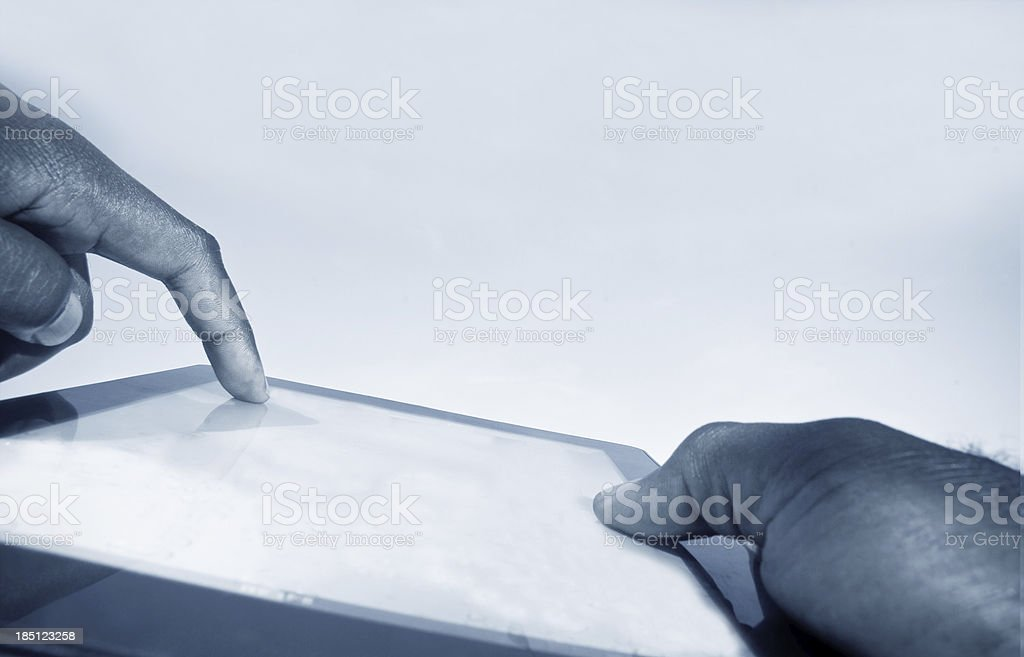 hands using digital tablet PC royalty-free stock photo