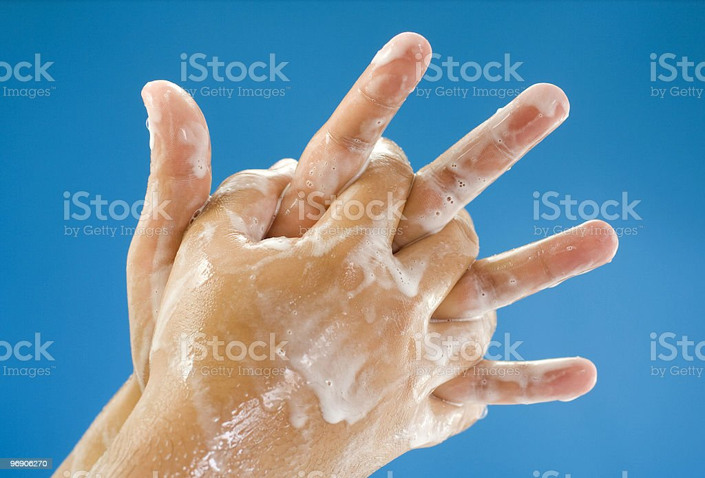 Hands washing royalty-free stock photo
