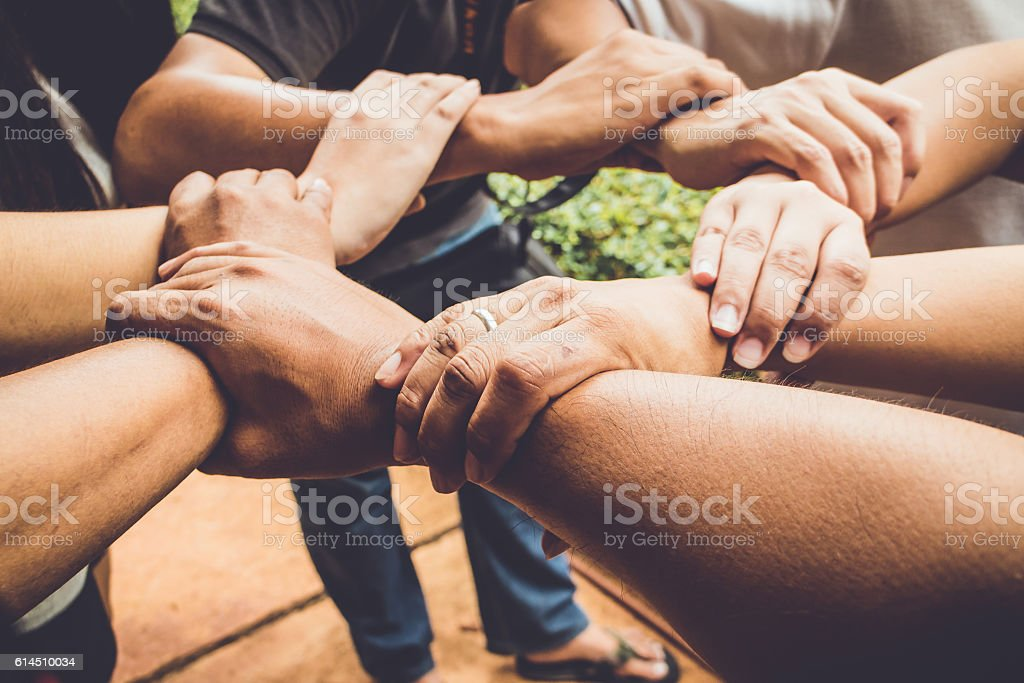 Hands were a collaboration concept of teamwork – Foto