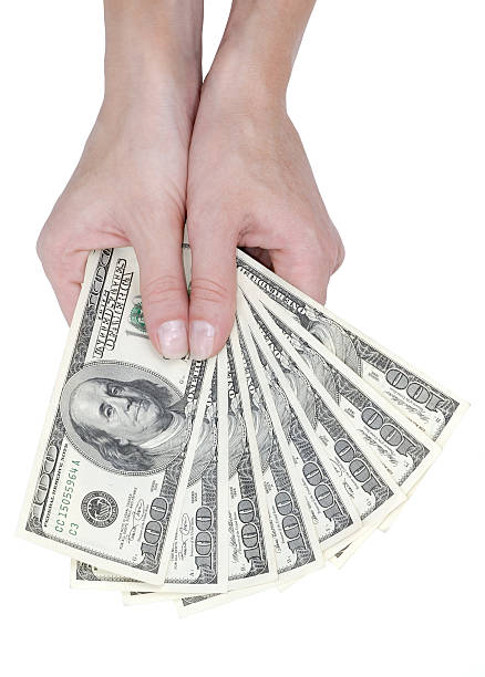 Hand mit Banknoten – Foto
