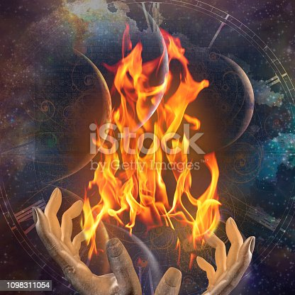 1011152398istockphoto Hands with fire 1098311054