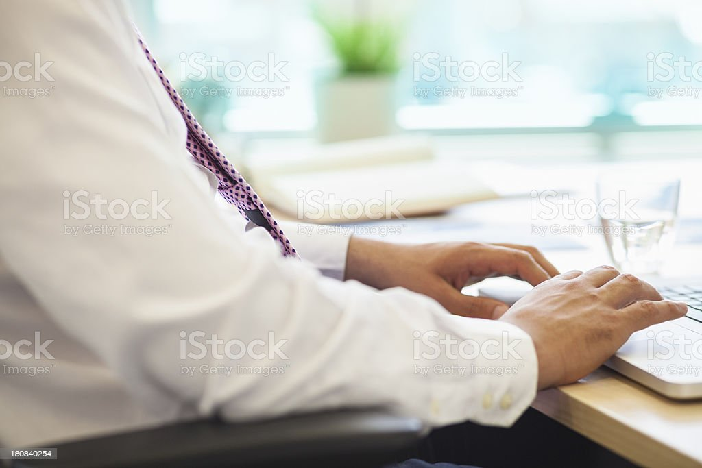 Hands with laptop royalty-free stock photo