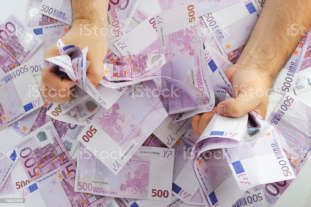 Hands with money royalty-free stock photo