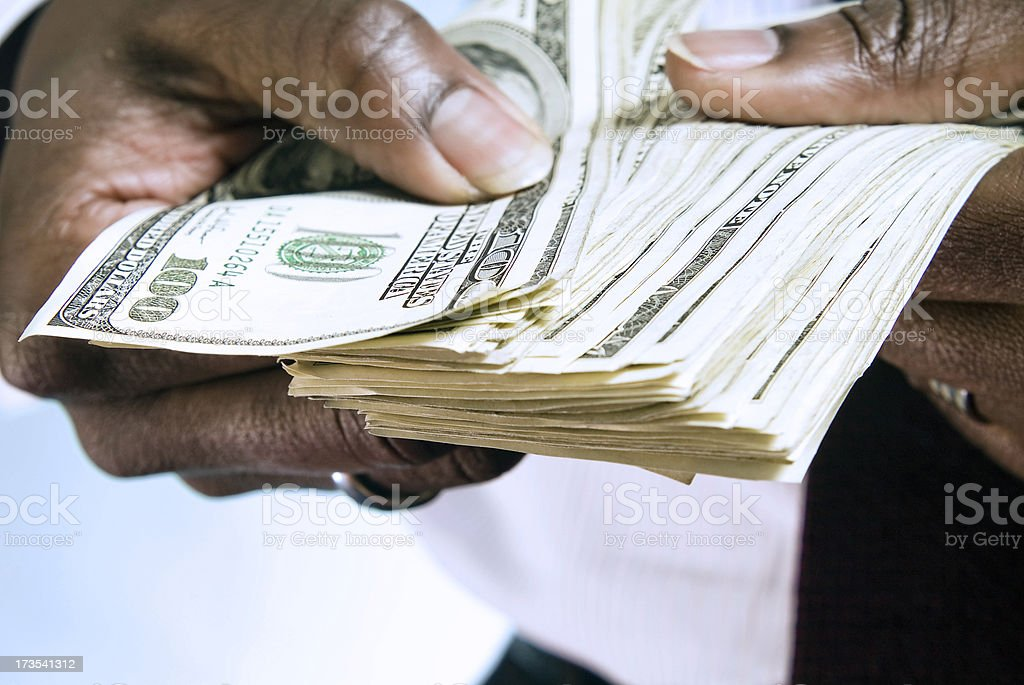Hands with Money Series stock photo