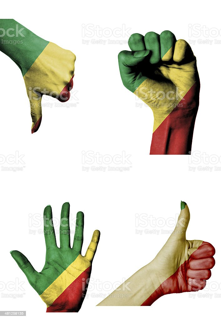 hands with multiple gestures Congo stock photo