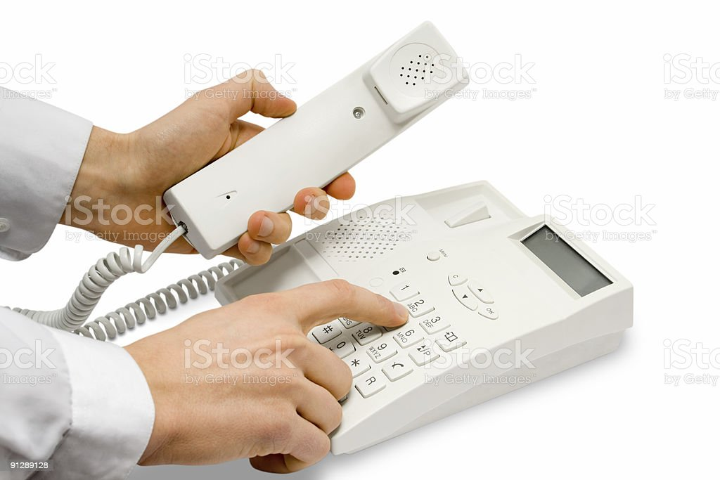 hands with telephone royalty-free stock photo