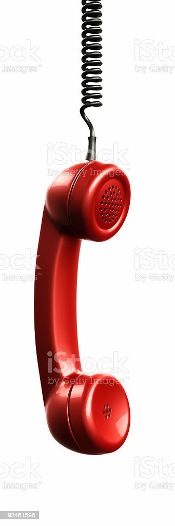 handset from vintage phone stock photo