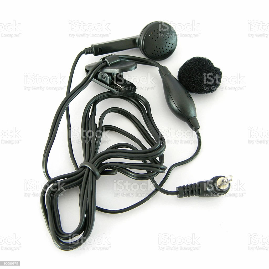 Hands-free headset royalty-free stock photo