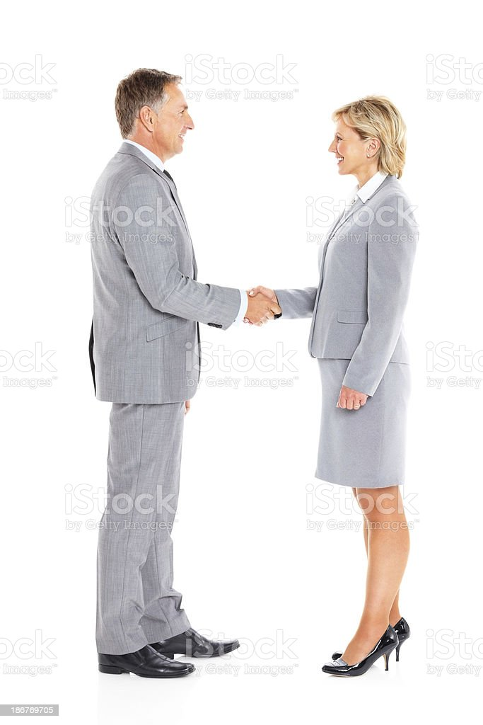 Handshake between business partners royalty-free stock photo