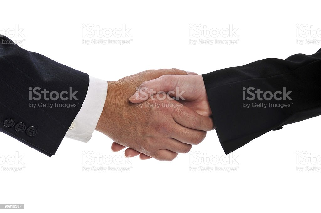 Handshake between  businesspeople royalty-free stock photo
