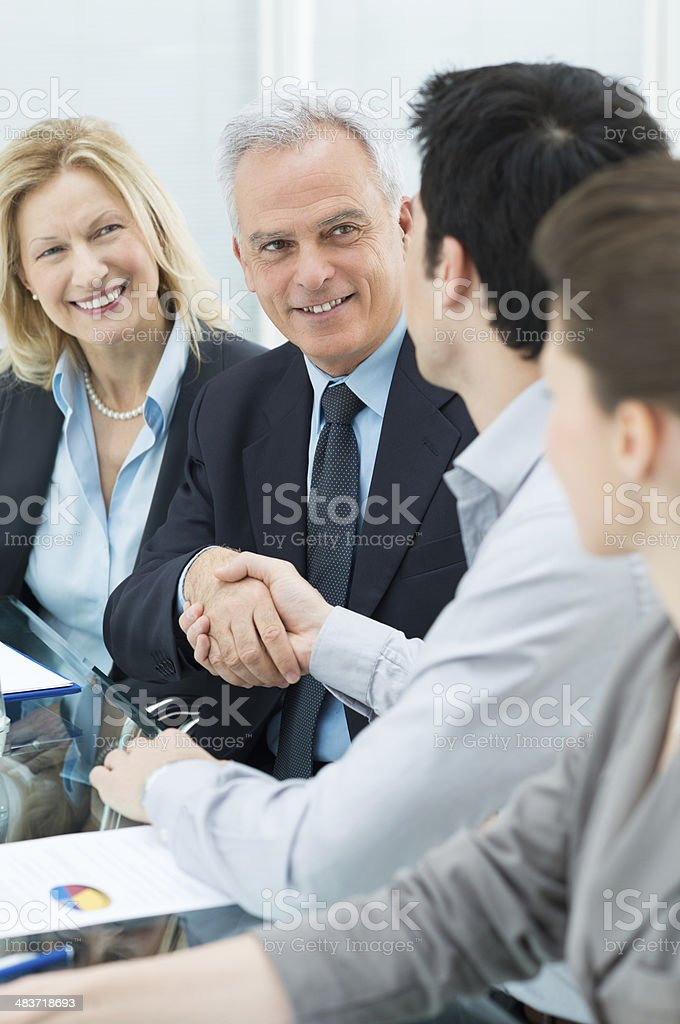 Handshake Between Two Businesspeople royalty-free stock photo