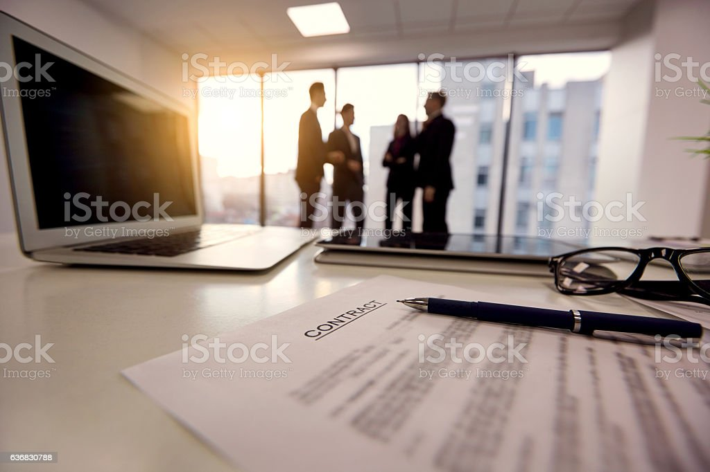 Handshake. Conclusion of the agreement, transaction business peo stock photo