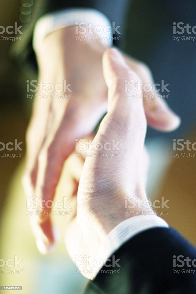 Handshake Detail royalty-free stock photo