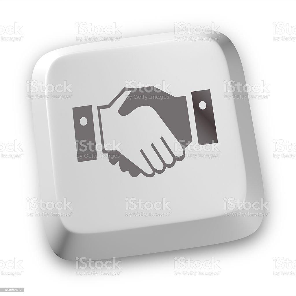 Handshake icons stock photo