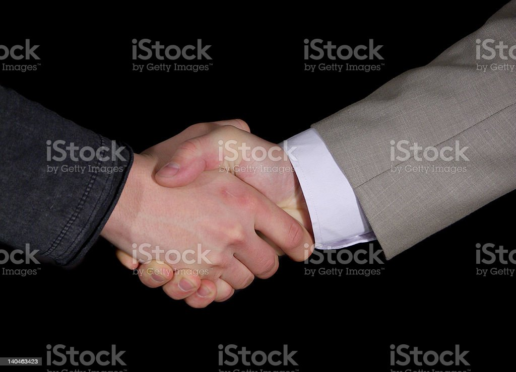 handshake isolated royalty-free stock photo