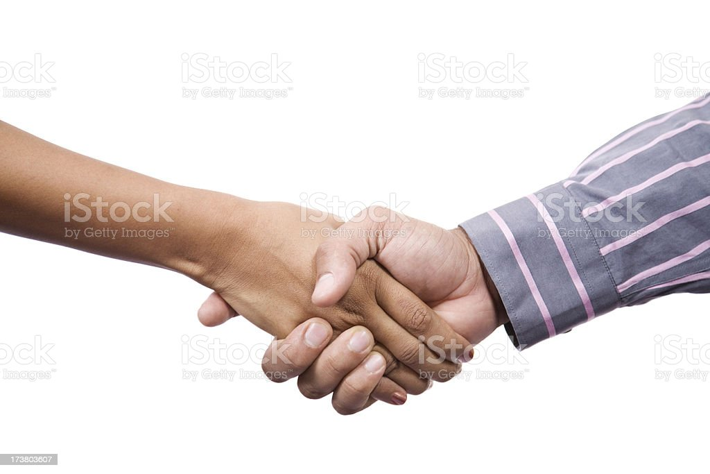 Handshake multiracial stock photo