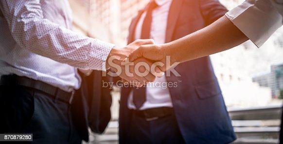 istock handshake of business People 870879280