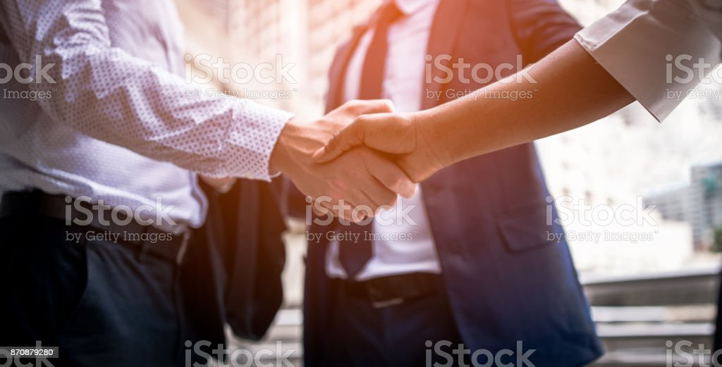 handshake of business People - foto stock