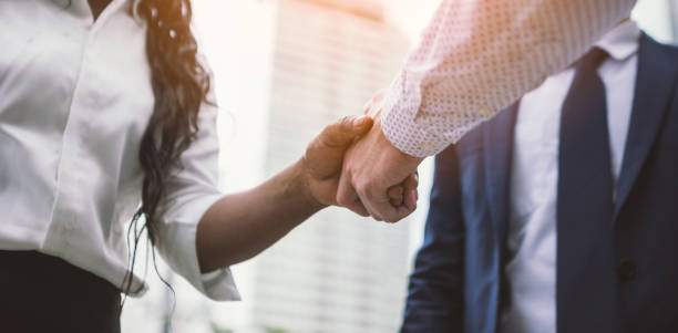 handshake of business people - respect stock photos and pictures