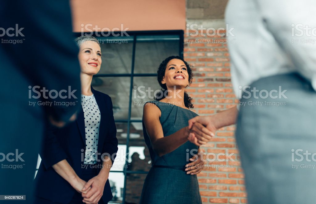 Handshake of business People stock photo
