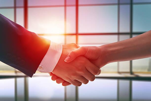 handshake of businessmen. stock photo