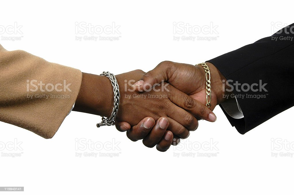 Handshake of two businessmen for reaching an agreement royalty-free stock photo