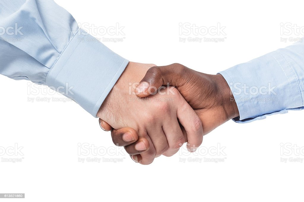 handshake of two businessmen stock photo
