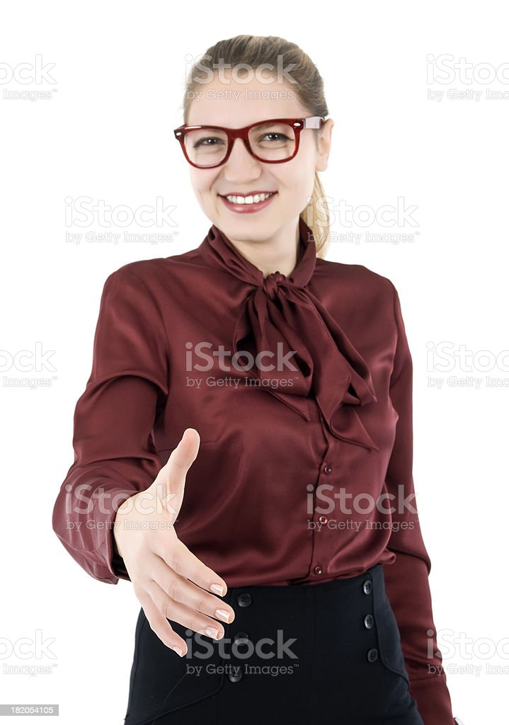 Handshake royalty-free stock photo