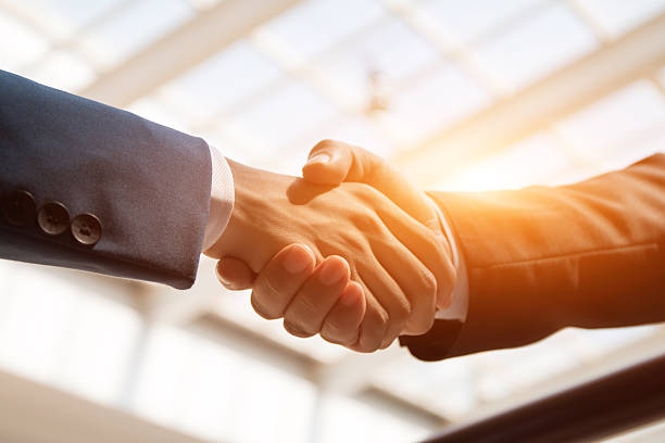 handshaking business people handshaking alliance stock pictures, royalty-free photos & images