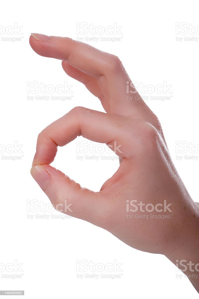 Handsign - it is ok royalty-free stock photo