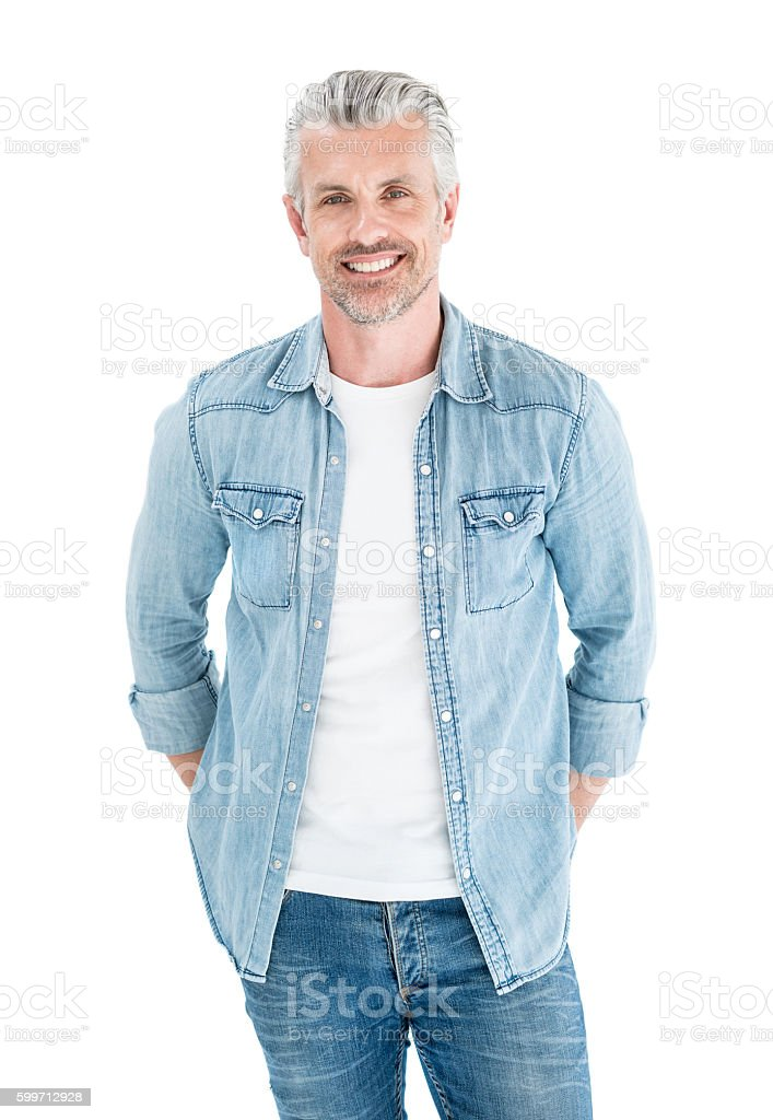Handsome adult man stock photo