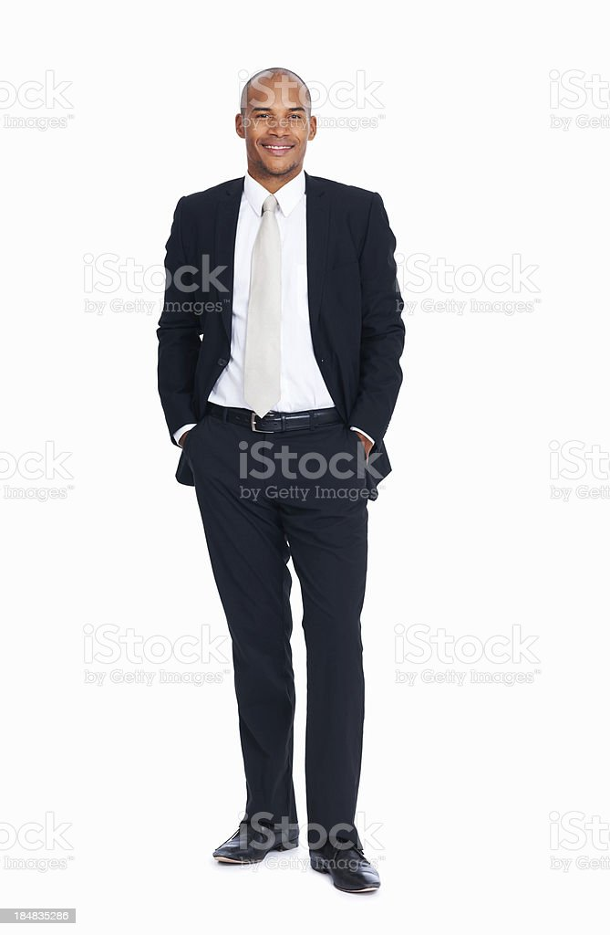 Handsome African American business man stock photo