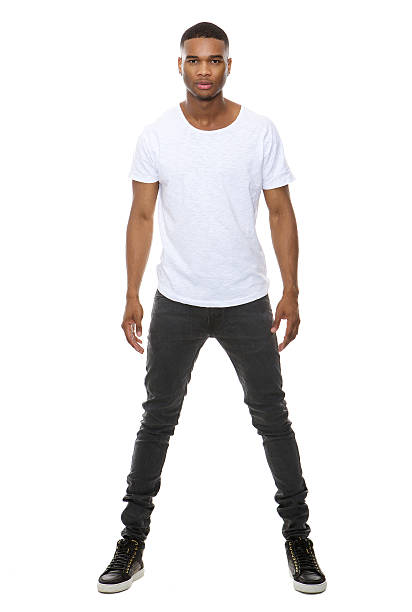 Handsome african american male fashion model stock photo