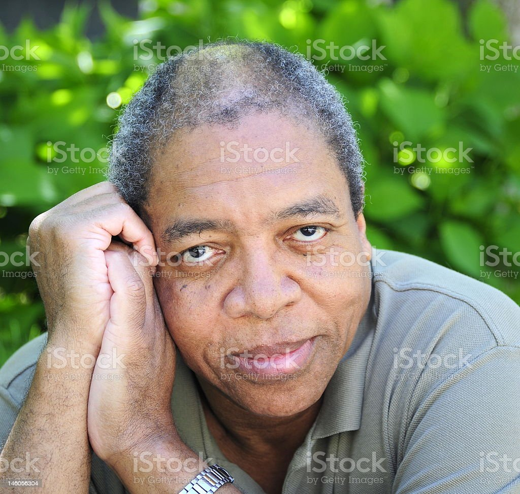 Handsome african american male. stock photo