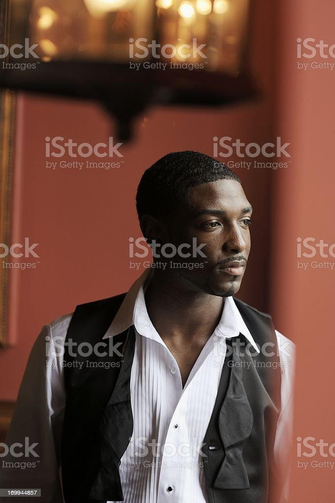 Handsome African American Male Portrait stock photo