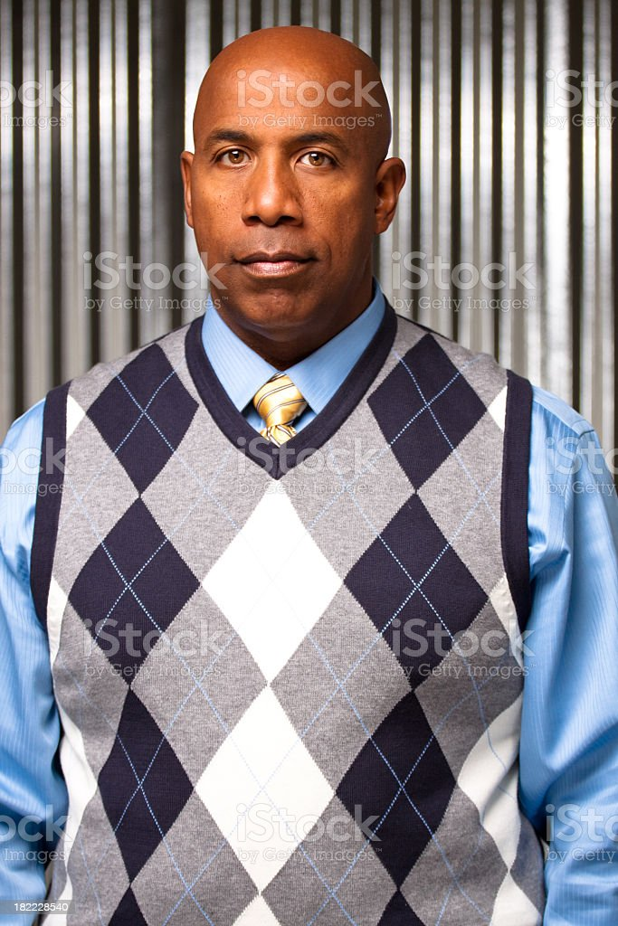 Handsome African American Man stock photo