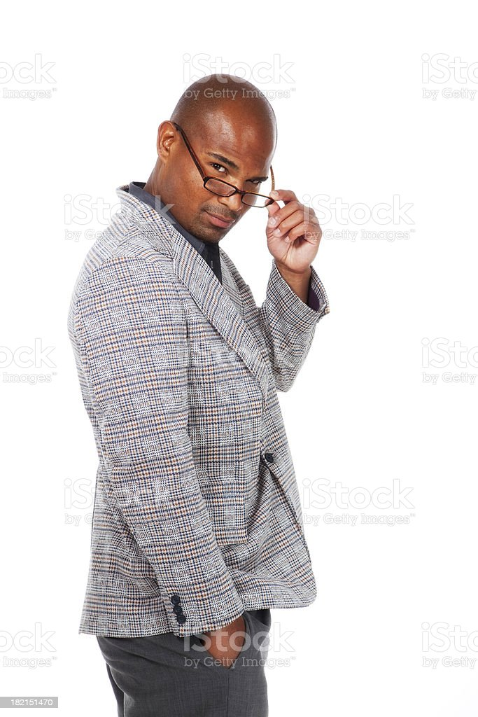 Handsome African American Man with Copy Space royalty-free stock photo