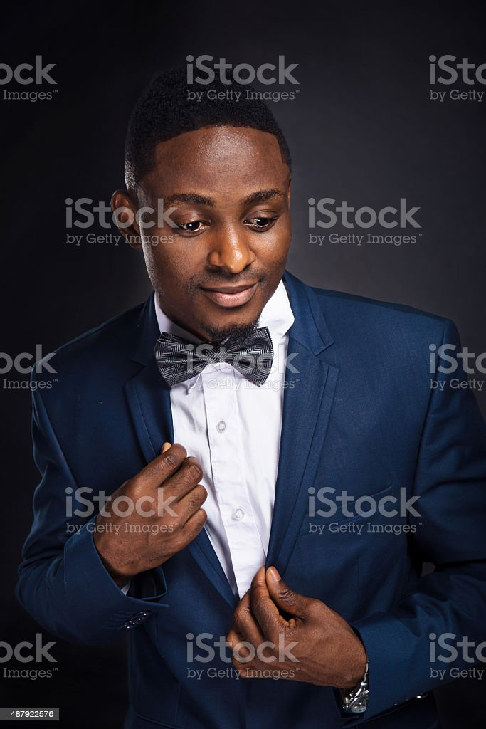 Handsome african american stylish man stock photo