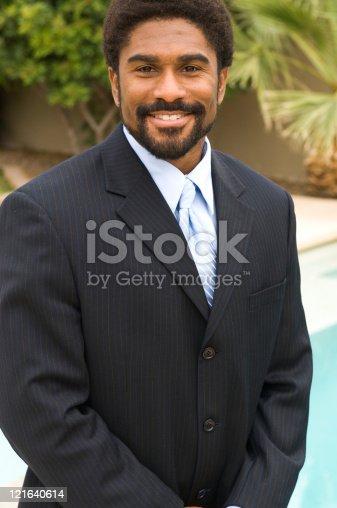 istock Handsome African-American man in suit 121640614
