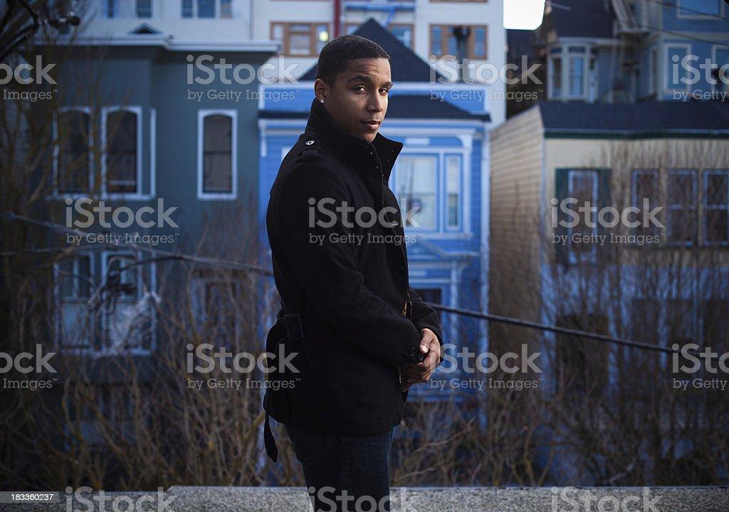 Handsome African-American Twentysomething royalty-free stock photo