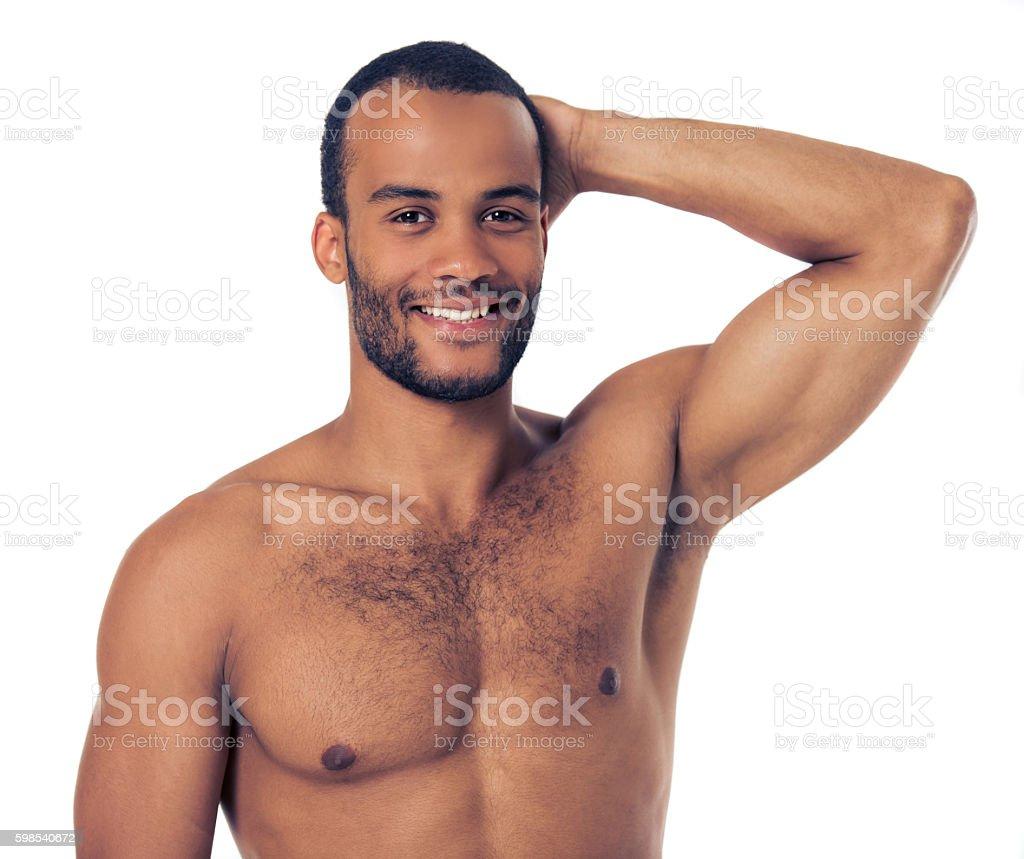 Bel homme Afro-américaine photo libre de droits
