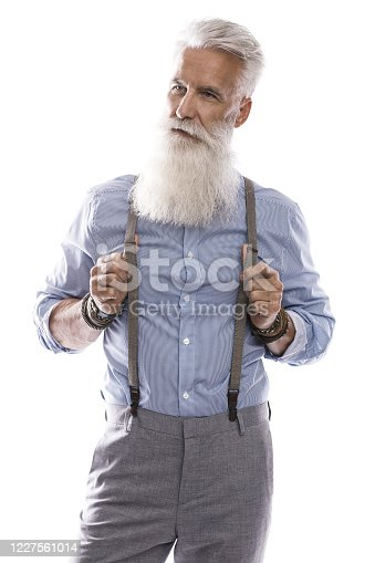 698023272 istock photo Handsome aged male model posing  on white background 1227561014