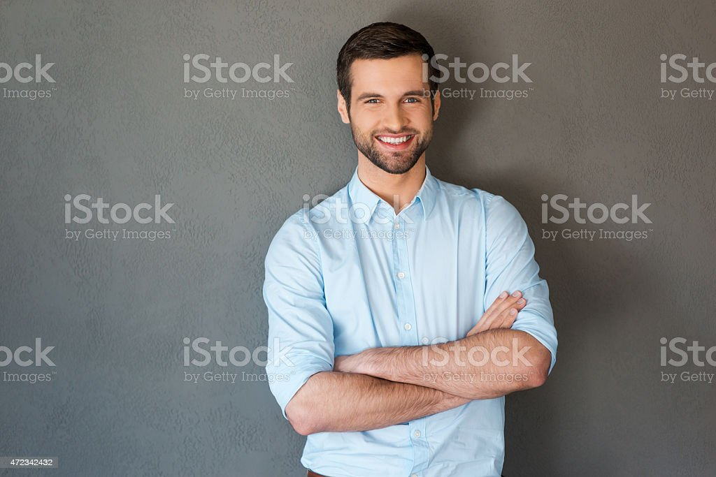 Handsome and confident. stock photo