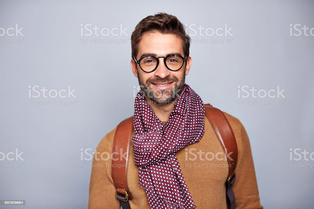 Handsome and stylish stock photo