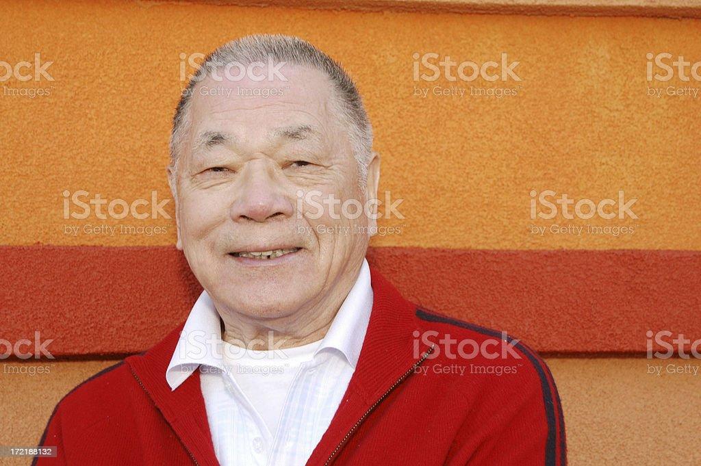 Handsome Asian Senior royalty-free stock photo
