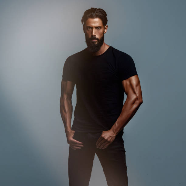 Handsome Athletic  Male Fashion Model stock photo