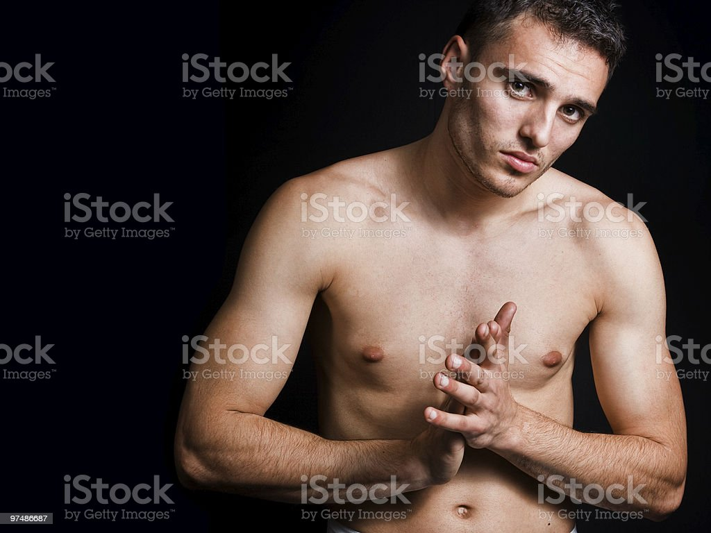 Handsome athletic man royalty-free stock photo