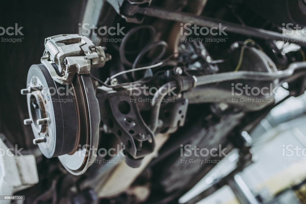 Handsome auto service mechanics. stock photo