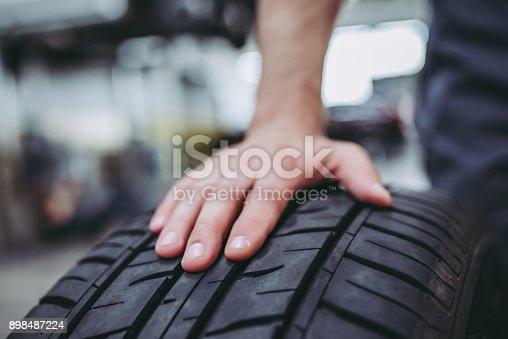 898487280 istock photo Handsome auto service mechanics. 898487224